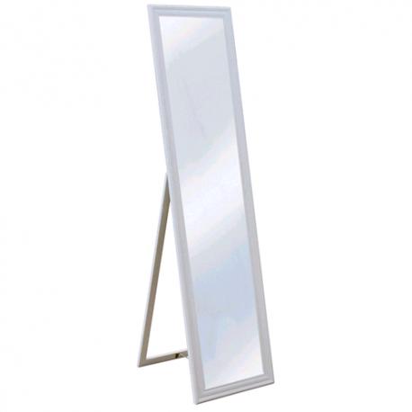 Specchio A Pavimento Da Camera Cm 40x160 Bianco Brico Casa