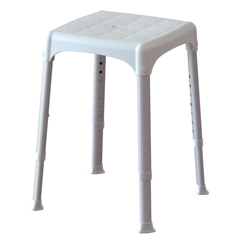 Lukas sgabello bagno regolabile per anziani e disabili con ventose brico casa - Sgabello per bagno ...