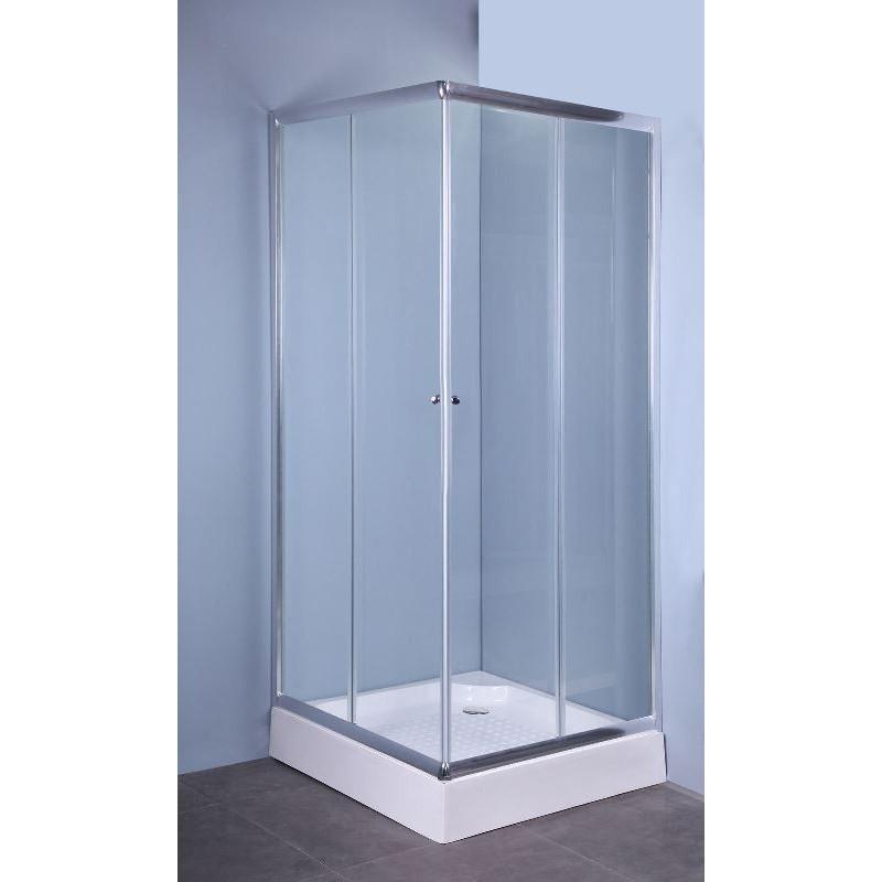 Box doccia 70x70 pareti in cristallo cabina ante - Ante per doccia ...