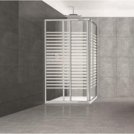 Box doccia in cristallo 70x80 serigrafato ante scorrevoli brico casa - Box doccia ante scorrevoli ...