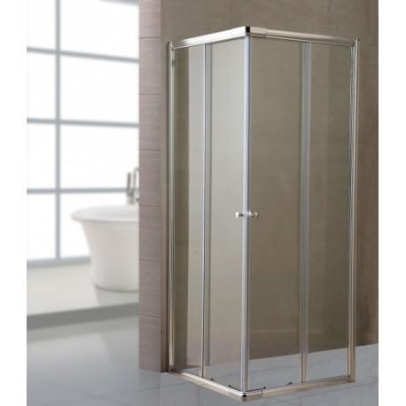 Box Doccia Per Il Bagno.Box Doccia Bagno In Cristallo Trasparente 80x140 Cm Brico Casa