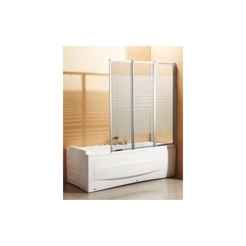 Parete per vasca bagno pieghevole a scomparsa in cristallo brico casa - Stufe elettriche a parete per bagno ...