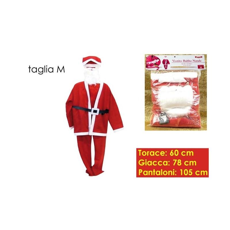 Vestito Babbo Natale Taglia 60.Costume Vestito Babbo Natale Uomo Con Barba M Brico Casa