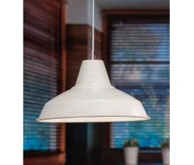 LAMPADA A SOSPENSIONE SOFFITTO IN METALLO BIANCO 31X16H CM