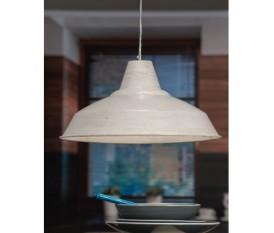 LAMPADA A SOSPENSIONE SOFFITTO IN METALLO BIANCO 39X19H CM