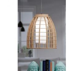 LAMPADA A SOSPENSIONE SOFFITTO IN LEGNO WOODY 30XH34 CM