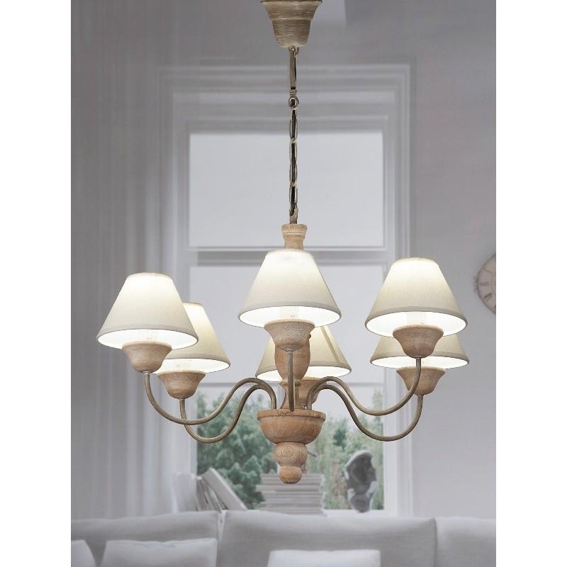 Lampadario Lampada Da Soffitto A 6 Bracci 67xh94 Cm Brico Casa