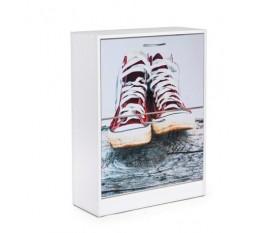 Scarpiera slim in legno sportiva ragazzi sneakers 65x25 cm