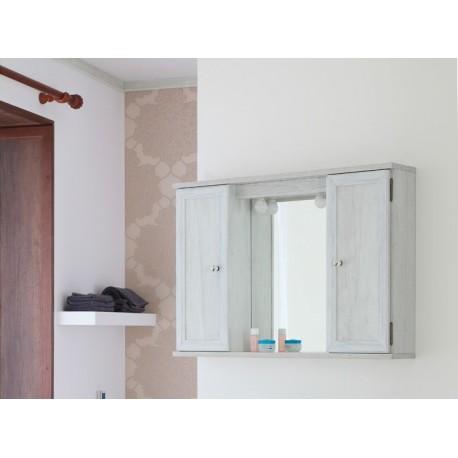 Specchio Bagno Mobile.Mobile Mobiletto Specchiera 2 Ante Arte Povera Bianca Shabby