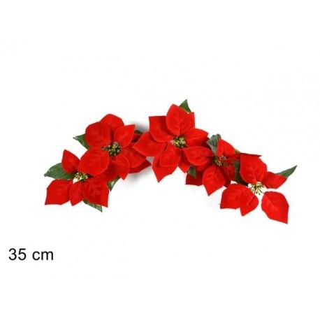 Addobbi Natale.Decorazione Addobbi Natalizi 5 Fiori Stella Di Natale Brico Casa