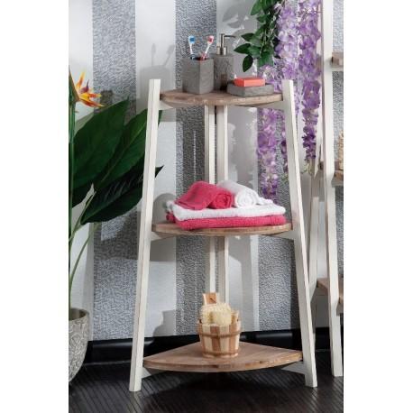 Mensole angolari in legno grezzo shabby angoliera bagno 3 - Mobile bagno legno grezzo ...