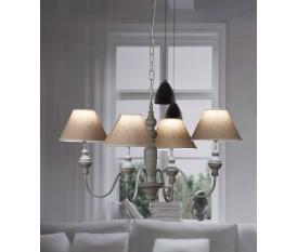 LAMPADARIO LAMPADA DA SOFFITTO 4 BRACCI 56XH43 CM