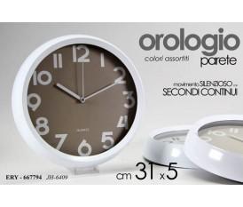OROLOGIO DA PARETE MURO SECONDI CONTINUI 31X31X5,2 CM