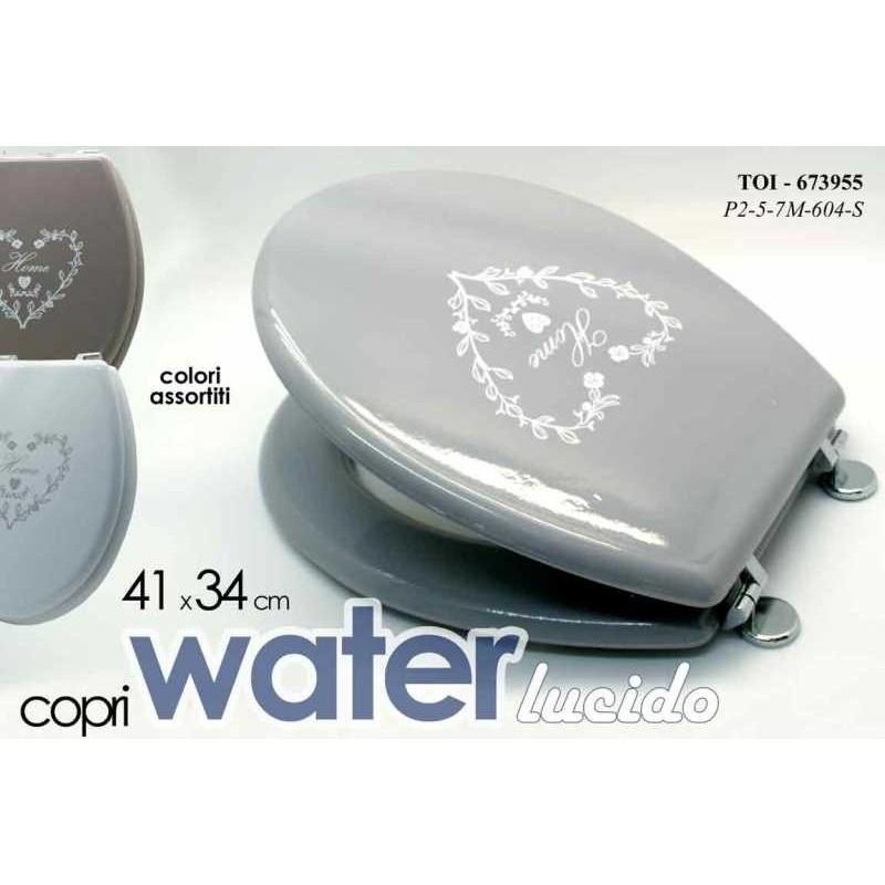 Tavoletta bagno web copriwater shabby grigio con cuore brico casa - Tavoletta bagno ...
