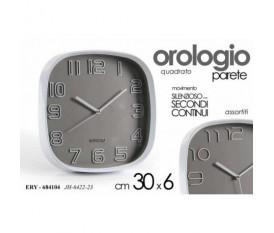 OROLOGIO DA PARETE MURO QUADRO 30X30X6 CM