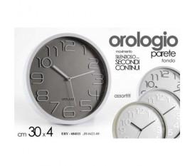 OROLOGIO DA PARETE MURO TONDO 30X30X4 CM