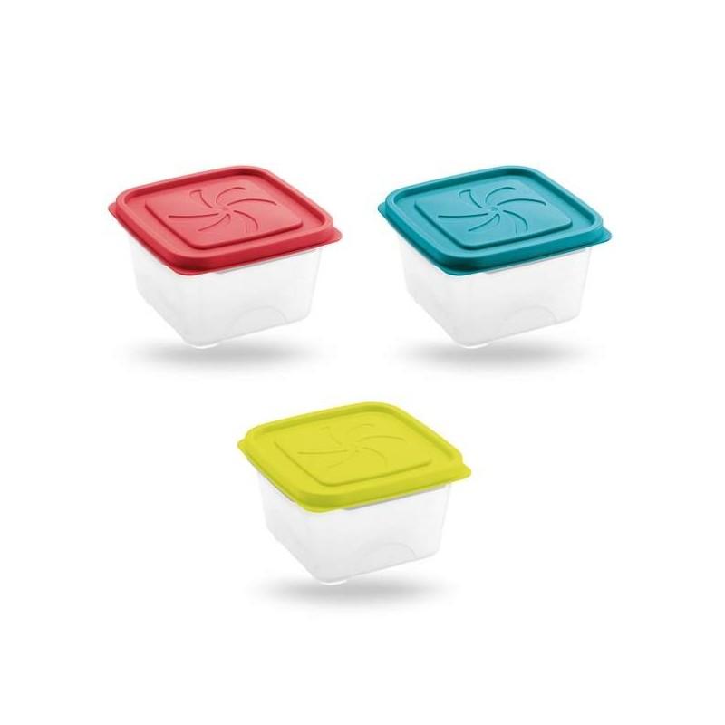 Brico Contenitori In Plastica.Contenitore Cucina Per Alimenti Portapranzo Aster Quadrato 13x13x8