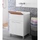 Lavatoio lavanderia 60 cm legno bianco - Feridras