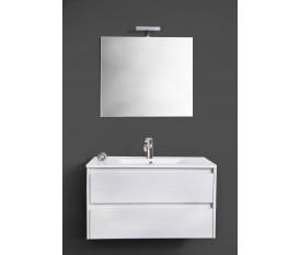 Composizione bagno moderno bianco sospeso luce led- Federica