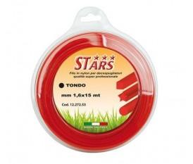 FILO NYLON PPER DECESPUGLIATORE STARS TONDO 1,6 MM CORALLO 15 MT