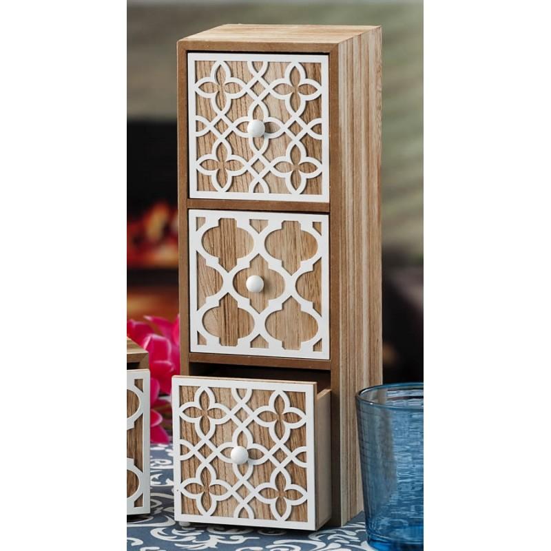 Portaoggetti con cassetti da scrivania in legno - Decorazioni in legno per mobili ...