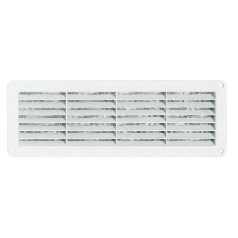 Griglia di aerazione per porte interne esterne rettangolare brico casa - Griglie per finestre esterne ...