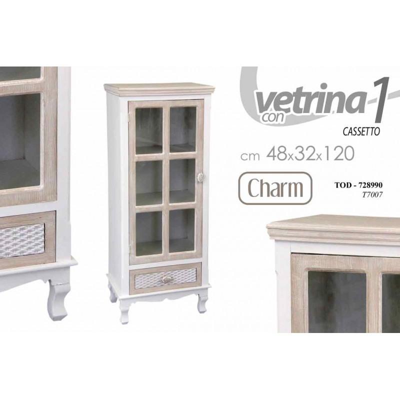 Mobiletto E Vetrina Tortora In Stile Shabby Chic Brico Casa