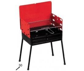 Barbecue portatile richiudibile pieghevole a valigetta balconi terrazzini