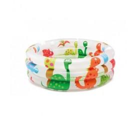 Piscina rotonda per bambini ad anelli con dinosauri gonfiabile