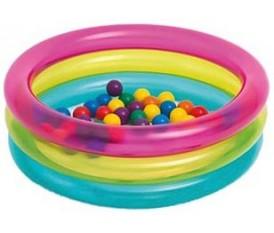 Piscina per bambini gonfiabile con palline colorata ad anelli
