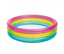 Piscina per bambini rotonda colori ad arcobaleno