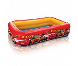 Piscina Cars Disney per bambini gonfiabile rettangolare rossa - Intex
