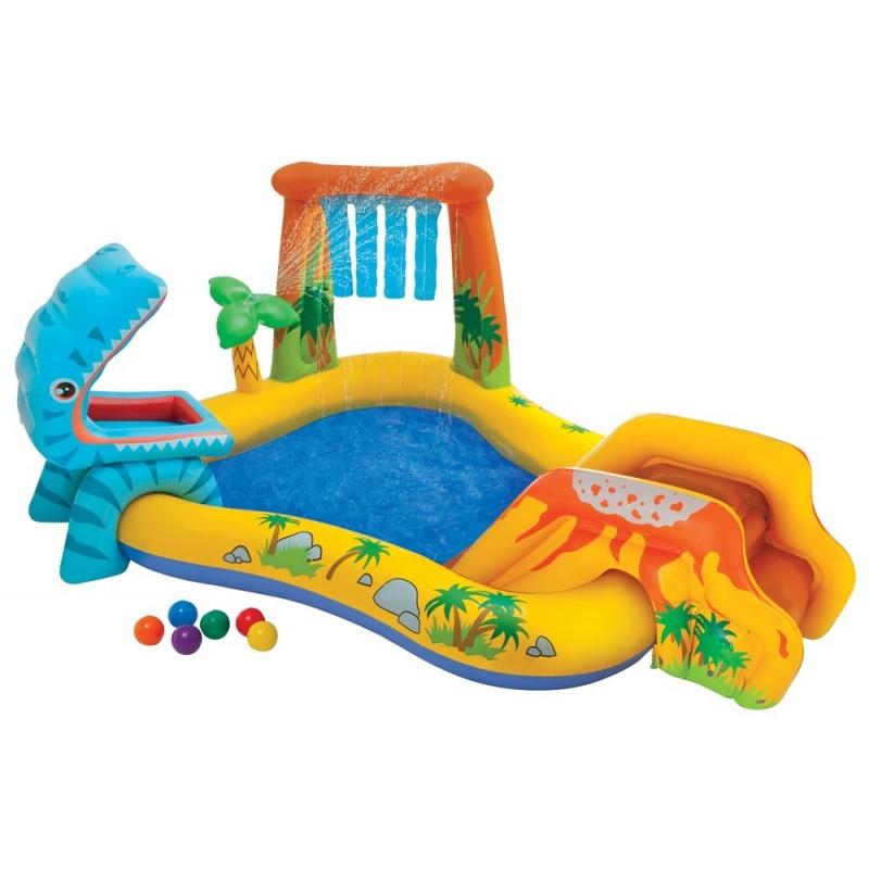 Piscina per bambini parco giochi dinosauri con scivolo e for Amazon piscina con palline
