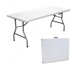 Tavolo pieghevole 2 metri 6-8 posti bianco a valigetta