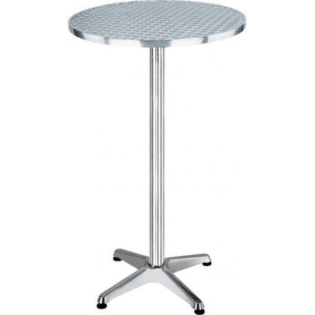 Tavolino Tondo Da Bar In Acciaio Inox Lucido Alto 110 Cm Brico Casa