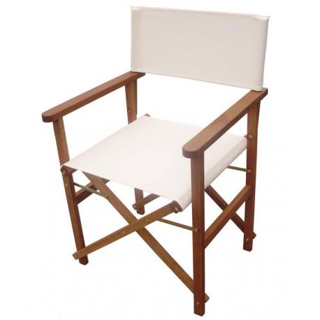 Sedie In Legno Richiudibili.Sedia Da Regista Pieghevole In Tessuto Bianco E Legno Brico Casa