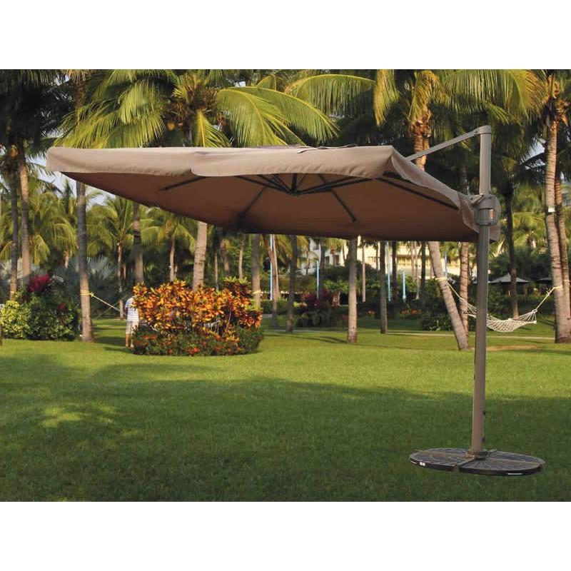 Ombrellone da giardino decentrato 3x3 beige in alluminio brico casa - Ombrelloni da giardino 3x2 ...