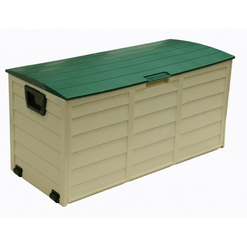 Bauli Plastica Da Esterno.Baule Con Ruote In Resina Plastica Da Esterni Verde E Beige Brico Casa