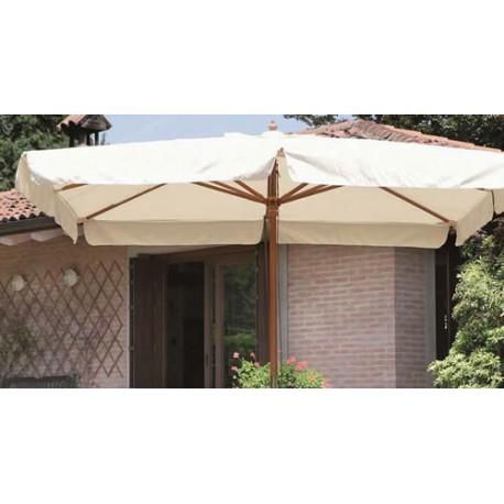 Ombrellone bianco 2x3 in legno per giardino e terrazzo - Brico Casa