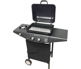Ke Grill Plus 007 - Barbecue pietra lavica con fornello due fuochi