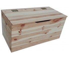 Cassapanca bauletto in legno naturale grezzo 75 cm