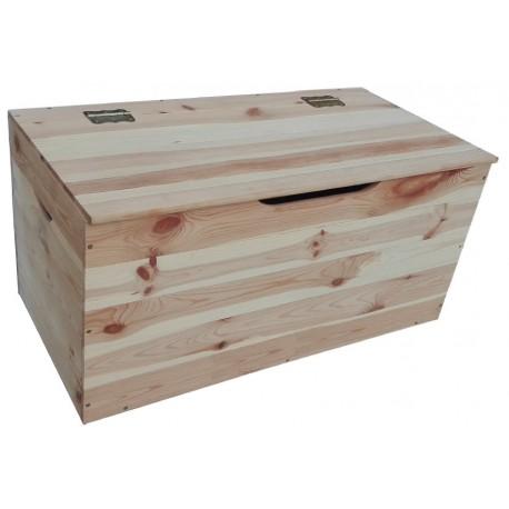 Cassapanca bauletto in legno naturale grezzo 75 cm - Brico Casa