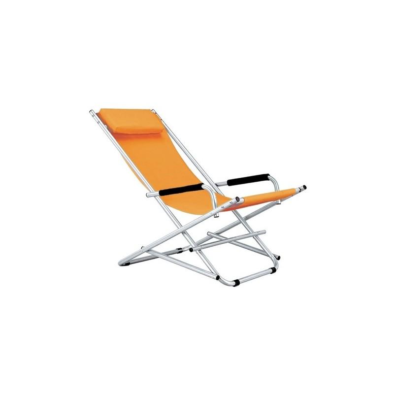 Sedie Sdraio Alluminio Con Poggiapiedi.Sedia Sdraio Pieghevole Regolabile Con Poggiapiedi Da Esterni