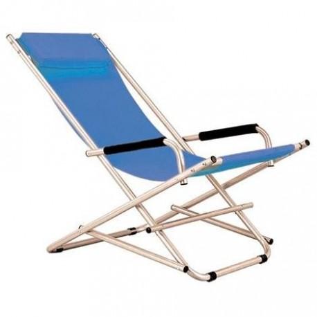 Sedie A Sdraio Per Spiaggia.Sedia Sdraio In Acciaio Colore Avion Blu Mare Spiaggia E Giardino Brico Casa