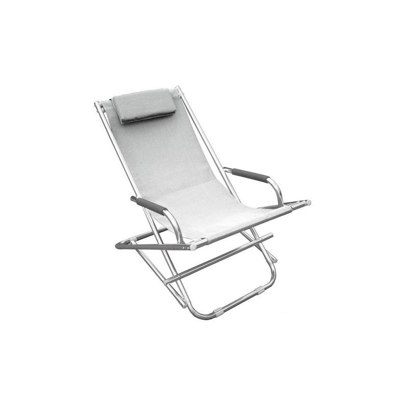 Sdraio Per La Casa.Sdraio Prendisole Bianca Per Esterni In Alluminio Satinato Tessuto