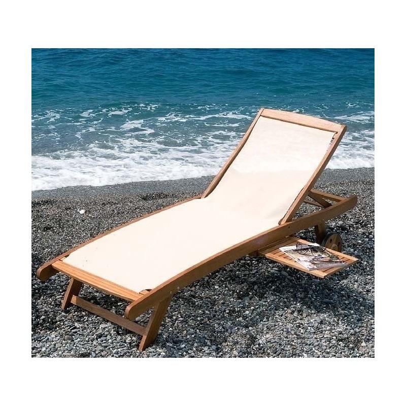 Lettino sdraio prendisole in legno mare piscina giardino e for Giardino e arredamento esterni