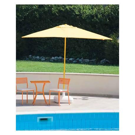 Ombrellone giallo 2x3 in alluminio per balconi e giardini - Brico Casa
