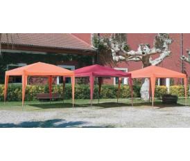Gazebo giardino in alluminio pieghevole 3 x 3 arancione