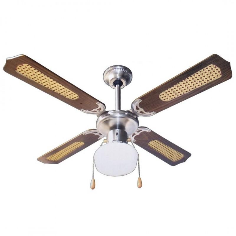 Ventilatore a soffitto parete con lampada 4 pale 107 cm for Ventilatore a pale