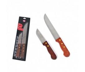Coltelli da barbecue per tagliare carne e bistecche manico in legno